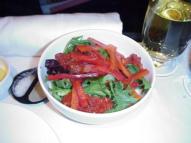 カンタス航空QF21便ビジネスクラス機内食