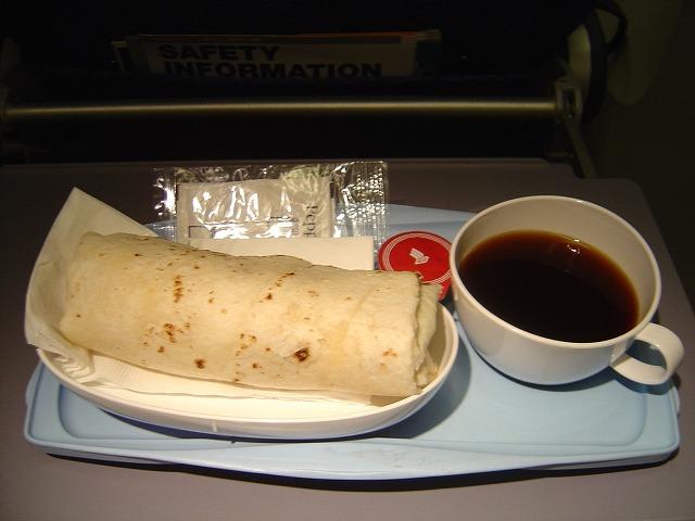 シンガポール航空エコノミークラス機内食