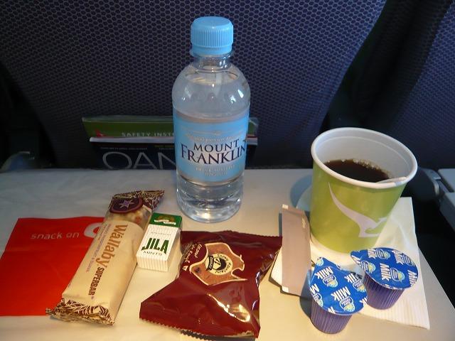 カンタス航空エコノミークラス機内食