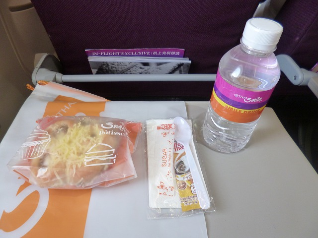 タイスマイル航空エコノミークラス機内食