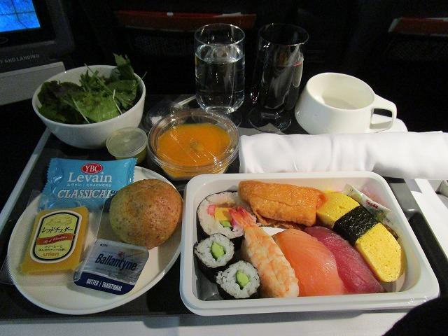 カンタス航空プレミアムエコノミークラス機内食