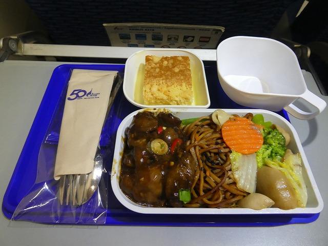 バンコクエアウェイズ エコノミークラス機内食