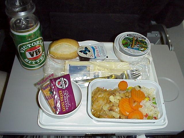 アンセット航空 エコノミークラス機内食