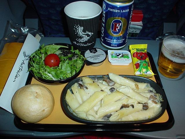 オーストラリアン航空エコノミークラス機内食