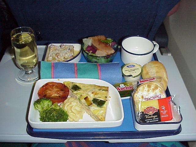 ニュージーランド航空 エコノミークラス機内食