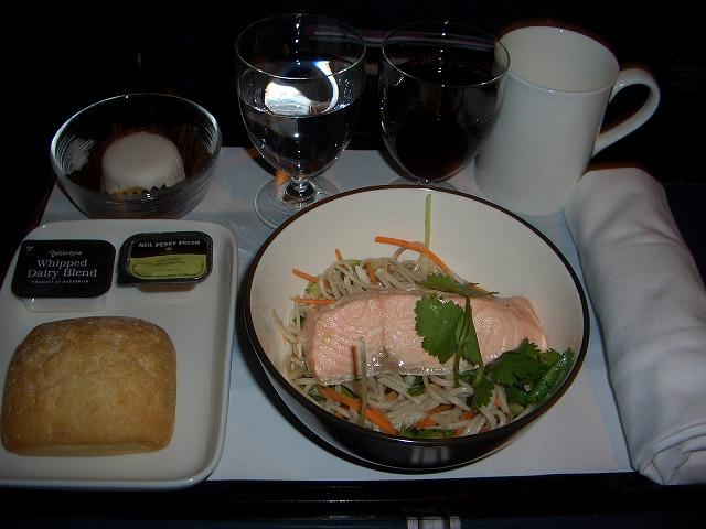カンタス航空機内食QF547 ビジネスクラス