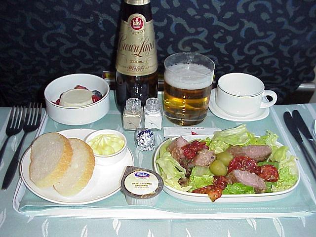 QF552 機内食 カンタス航空 ビジネスクラス