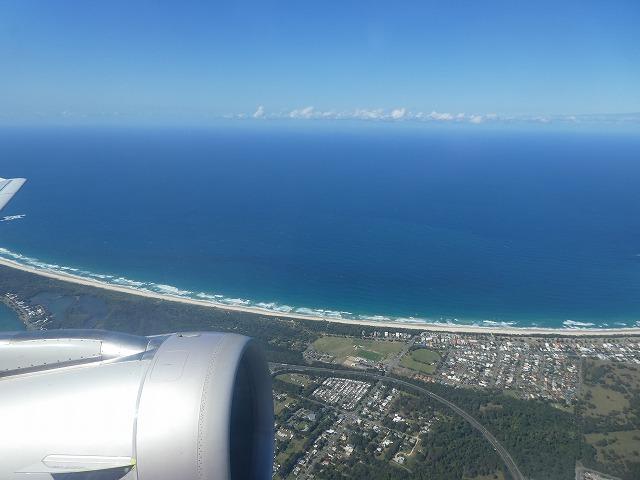 オーストラリア ゴールドコースト上空