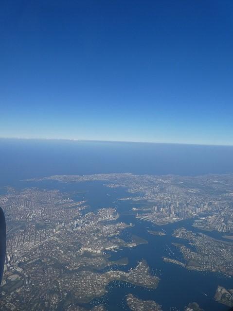 シドニー上空