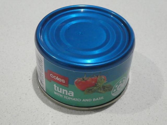 トマトとバジルのツナ缶