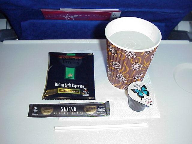DJ233 ヴァージンブルー航空 機内食
