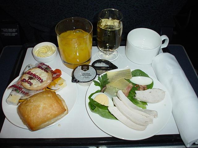 QF450 機内食 カンタス航空 ビジネスクラス