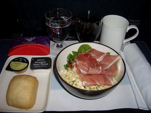 カンタス航空(QF494) ビジネスクラス 機内食