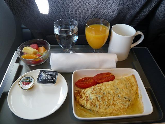 カンタス航空 QF409 機内食 ビジネスクラス