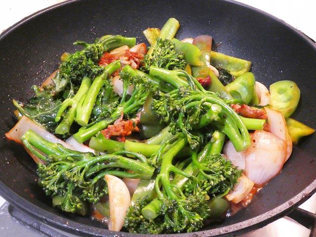 ダックの野菜炒め