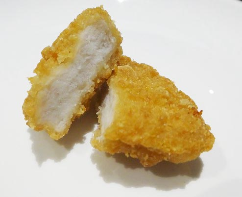 チキンナゲット断面図