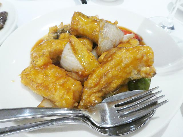 FRIED BARRAMUNDI FILLET WITH SWEET AND SOUR